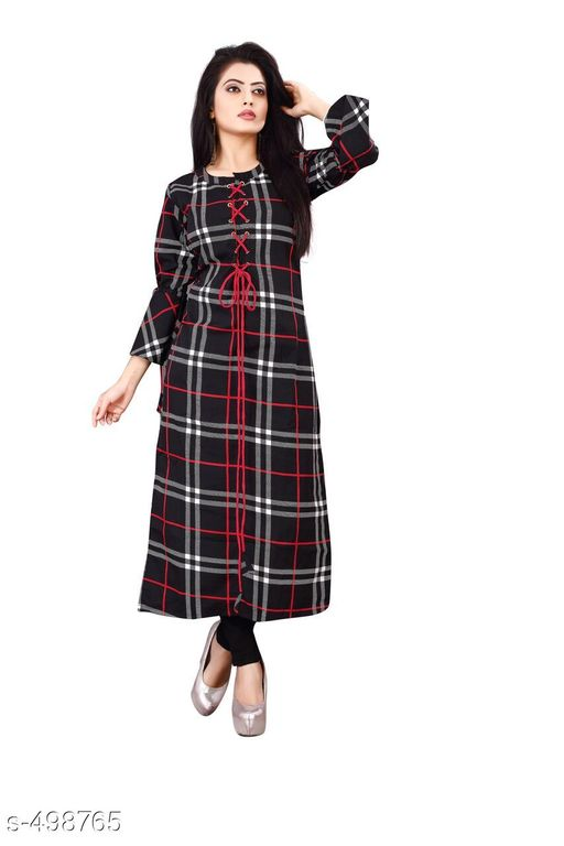 Kurtis & Kurtas Designer Casual Kurti  *Fabric* Crepe   *Sleeves* 3/4th Sleeves Are Included   *Size* M - 38 in, L - 40 in, XL - 42 in   *Length* Up To 46 in   *Type* Stitched   *Description* It Has 1 Piece Of Kurti   *Pattern* Checkered  *Sizes Available* M, L, XL, XXL   Catalog Rating: ★3.7 (428) Supplier Rating: ★3.8 (4453) SKU: SOS-k2089 Shipping charges: Rs1 (Non-refundable) Pkt. Weight Range: 300  Catalog Name: Damayanti Stunning Casual Kurtis Vol 2 - SOS Surat Code: 774-498765--395