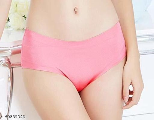 Women Hipster Pink Satin Panty