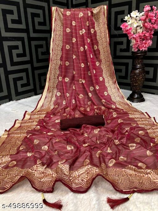 Womens Lycra Saree With Unstitched Blouse