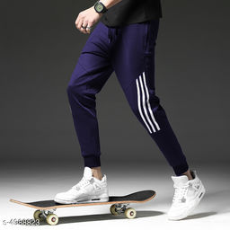 Men's Trendy Polyester Solid Track Pants