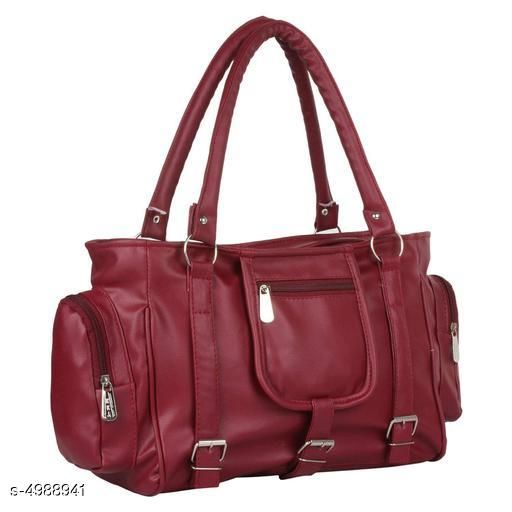 Trendy Women's Maroon PU Handbag