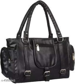 Beautiful Women's Black PU Handbag