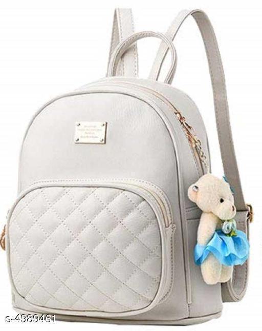 Trendy Women's White Backpacks