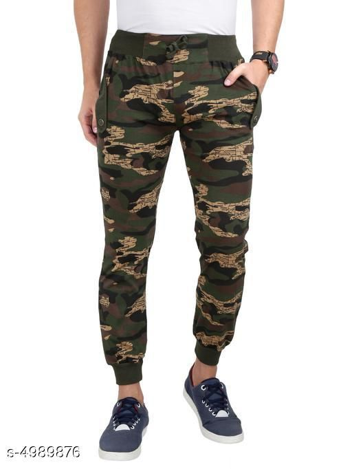 Men's Trendy Cotton Solid Track Pants