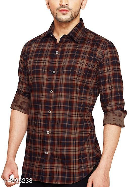 Shirts Elite Elegant Men's Shirts Fabric: Cotton Sleeve Length : Long Sleeve Pattern: Checked Size: SMLXLXXL (Refer Size chart) Country of Origin: India Sizes Available: S, M, L, XL, XXL *Proof of Safe Delivery! Click to know on Safety Standards of Delivery Partners- https://ltl.sh/y_nZrAV3  Catalog Rating: ★3.9 (486)  Catalog Name: Elite Elegant Men's Shirts CatalogID_732835 C70-SC1206 Code: 686-4995238-