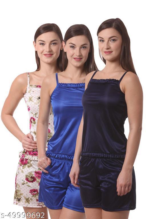 Mixcult Print Sleeveless Night Suit