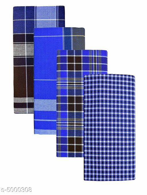 Trendy Men's Pure Cotton Lungis