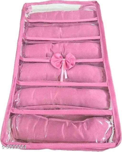 6 Roll Jewellery Vanity Box (Pink)