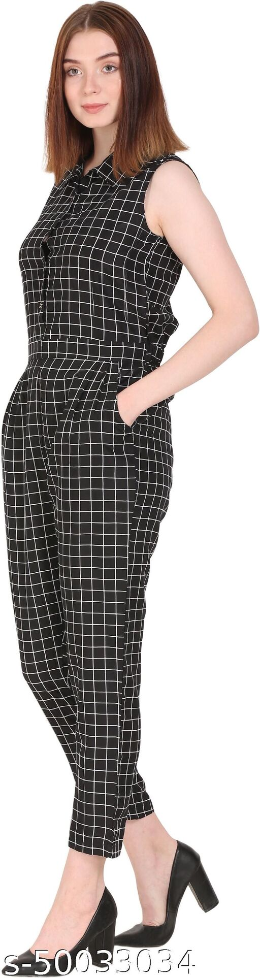 My Swag Checkered Women Jumpsuit
