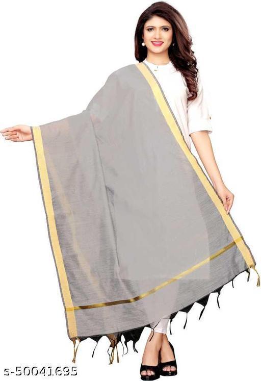Ethnic studio present's new collection of chanderi fabric plain dupatta
