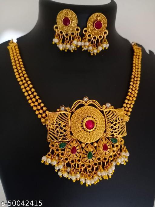 South Indian Matte Finish Premium Quality Trending Design Choker Necklace Set For Women & Girls