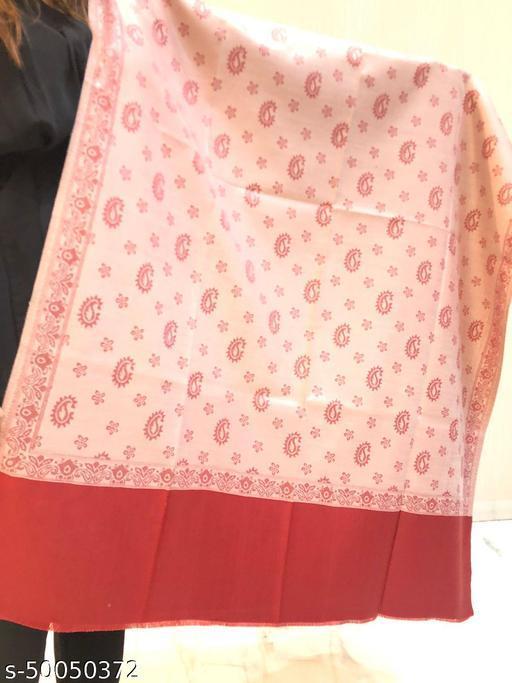 Women's Wool Blend Kashmiri Paisley Jaal Shawl