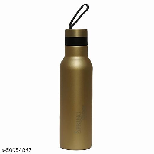 Spring Home MARVEL 600 Hot and Cold Gold 550 mL Stainless Steel Water Bottle set of 1