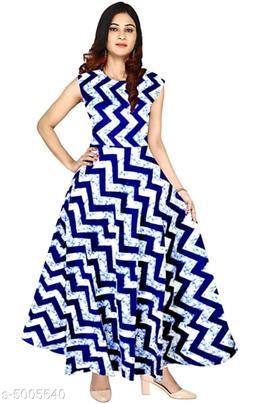 Printed Light Multicolour Maxi Rayon Dress