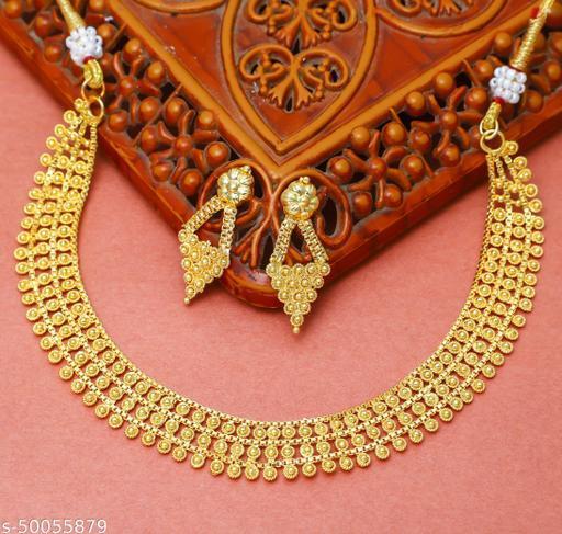One Gram Gold Plated Jewellery Jewellery  Set For Women Girls