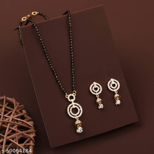 shapes style mangalsutra with earring