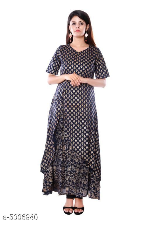 Kurtis & Kurtas Stylish Women Kurti Sets  *Kurti Fabric* Rayon  *Bottomwear Fabric* Rayon  *Dupatta Fabric* Rayon  *Fabric* Rayon  *Sleeve Length* Three-Quarter Sleeves  *Set Type* Kurti With Dupatta And Bottomwear  *Bottom Type* Palazzos  *Pattern* Printed  *Multipack* Single  *Sizes*   *XL (Bust Size* 42 in, Kurti Length Size  *L (Bust Size* 40 in, Kurti Length Size  *XXL (Bust Size* 44 in, Kurti Length Size  *M (Bust Size* 38 in, Kurti Length Size  *Dupatta Size * 2 Mtr  *Sizes Available* M, L, XL, XXL   Supplier Rating: ★3.6 (1237) SKU:  SP-1023 Shipping charges: Rs1 (Non-refundable) Pkt. Weight Range: 400  Catalog Name: Trendy Attractive Women Kurti Sets - Dram Dream Code: 875-5006940--957