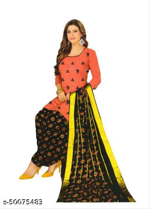FAZ FASHION : Unstiched Satin Cotton Dress Material with Kutchi Work