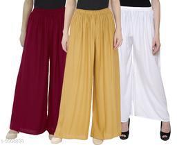 Designer Women's Palazzos Combo (Pack Of 3)