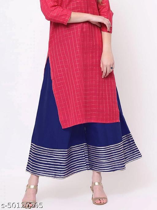 Partywear Designer Fancy Trendy NAVY BLUE Kalidaar Silk Palazzo with Cotton Inner