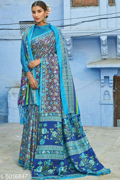 Trendy Pashmina Silk Women's Sarees