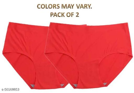 Women Hipster Red Cotton Blend Panty (Pack of 2)