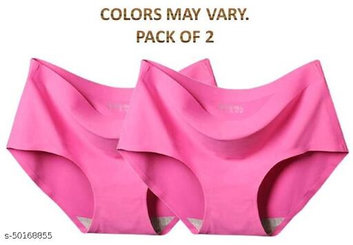 Women Hipster Pink Cotton Blend Panty (Pack of 2)