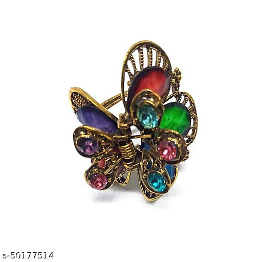 AJ Fashion Elegant hair catch clip with stone work for girls and women