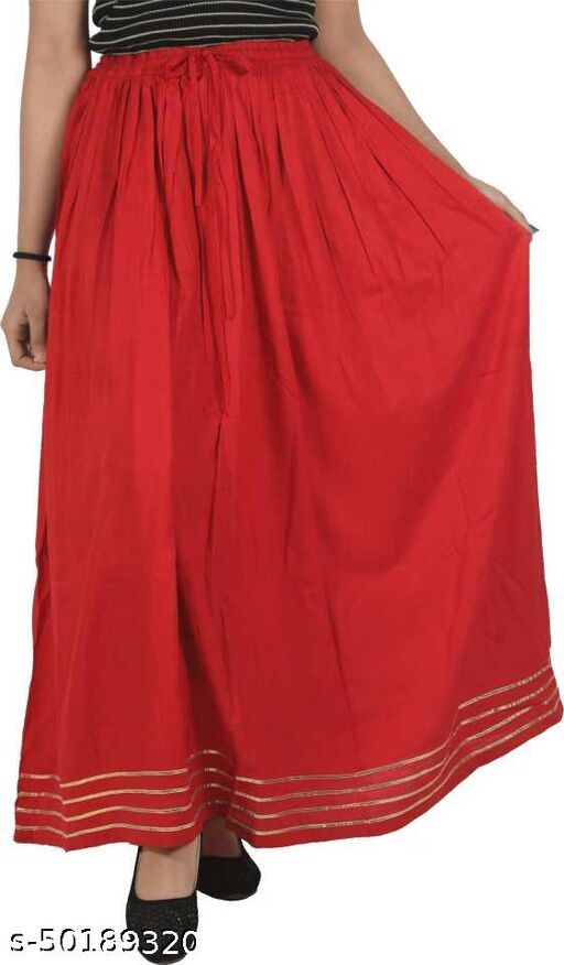 COTREL Women Solid Gathered Skirt