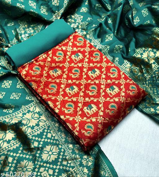 New banarasi silk jaquard dress materials eith banarasi dupatta