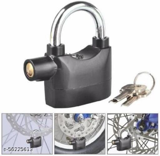 Security_Pad_ Lock with _Electronic Touch Siren Alarm Lock For Home Safety Lock  (Black)