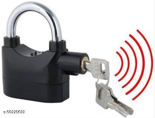 Security Pad Lock with Smart Alarm Motion Sensor Safety Lock  (Black)
