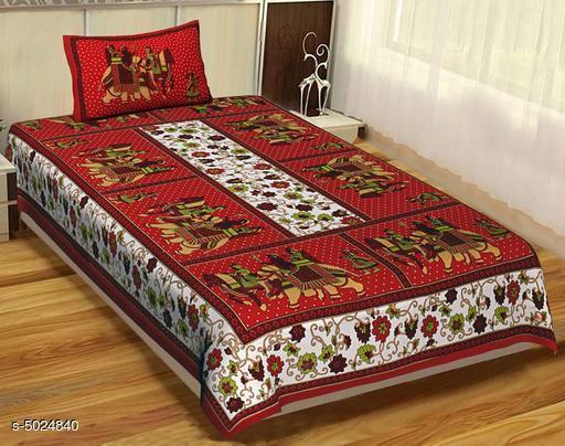 Marbal Cotton 87 X 59 Single Bedsheet