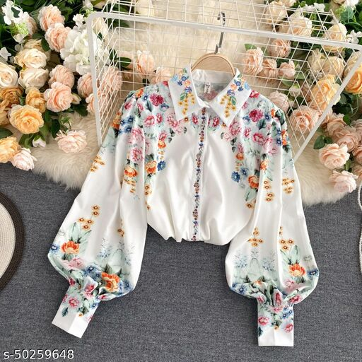 new letest design folwer shirt for women