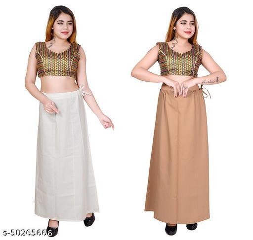 Riwaz Trendz Petticoat Inskirt For women in Latest Collection (White, Beige)