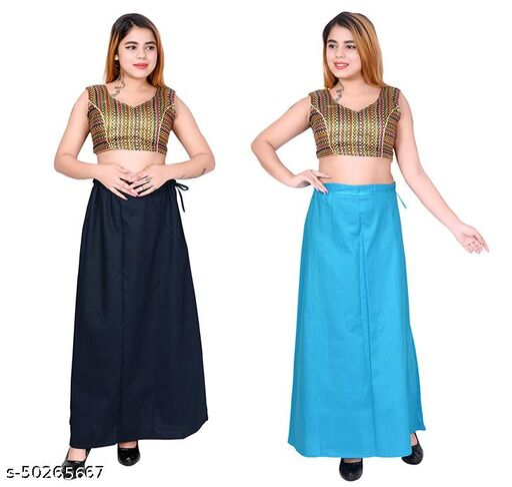 Riwaz Trendz Petticoat Inskirt For women in Latest Collection (Navy Blue, Light Blue)