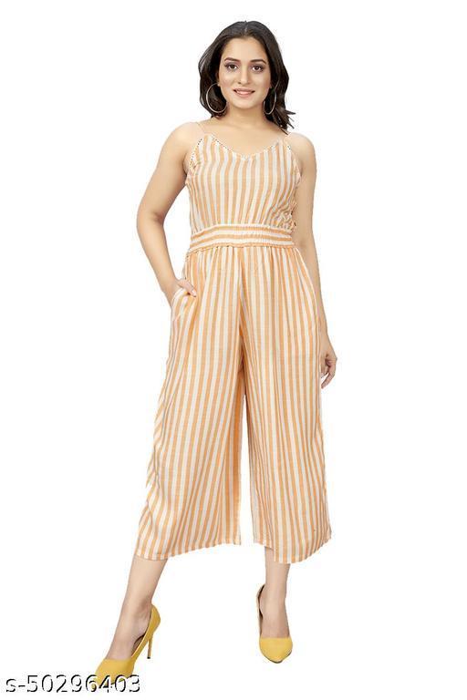 Namnish Women Summer Casual Stylish Striped Design Jumsuit