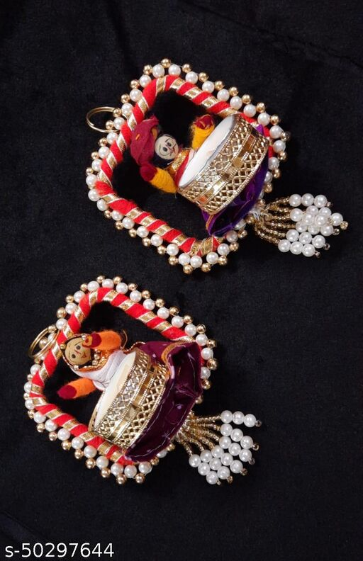 handmade toy candle pair for diwali
