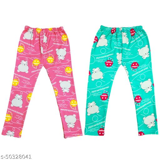 Kids printed winter pajamas lower combo of 2 pieces
