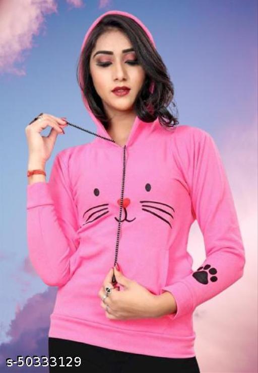 Women cat hoodies cotton Sweatshirts