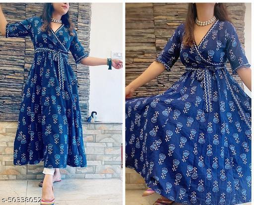 Handcrafted organic indigo dye handblock kalidaar angarkha kurta with pants