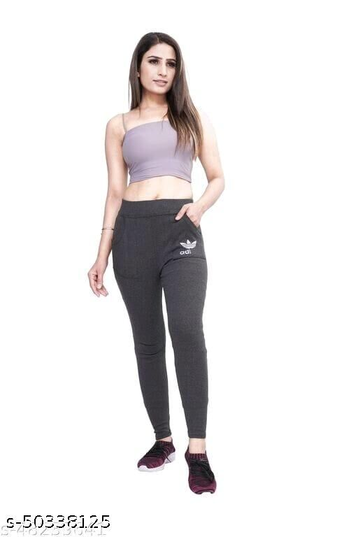 front pocket full stretched jegging for women ankle length trousers