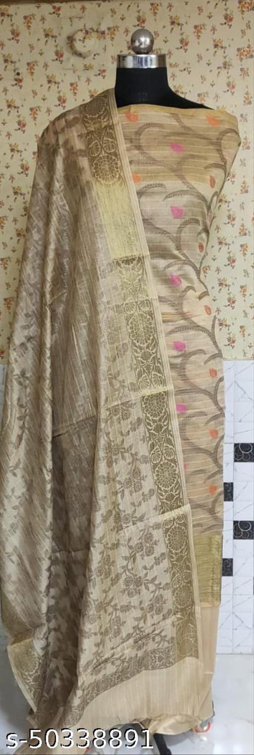 (1Nude) Fabulous Summer Season Partywear Banarsi Cotton Suit And Dress Material