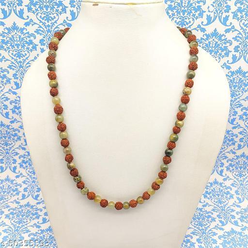 Satyam's Glass Multi Beads Rudraksh Necklace Mala for Women