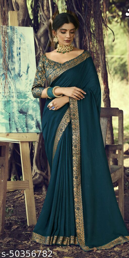 fabulous attractive kanjivaram saree with heavy finished
