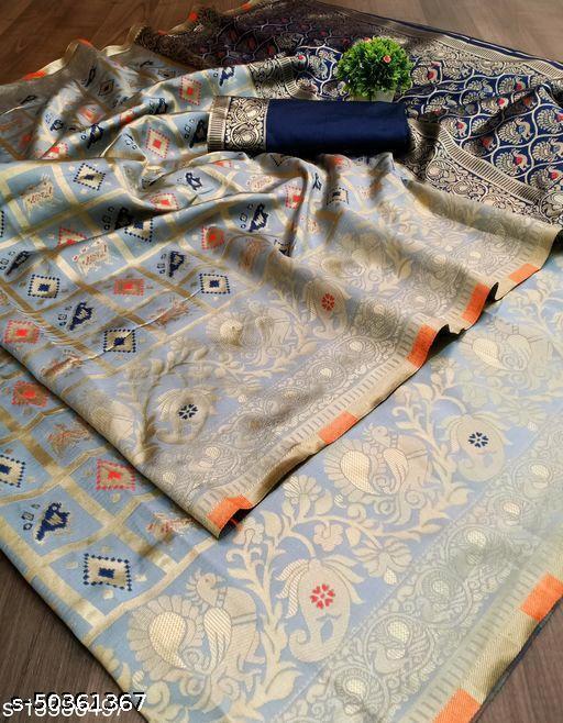 Women's Designer Traditional Pure Jacquard Soft Silk Banarasi Saree