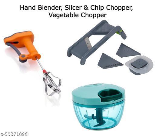 Hand Blender, Slicer, Chip Chopper & Vegetable Chopper