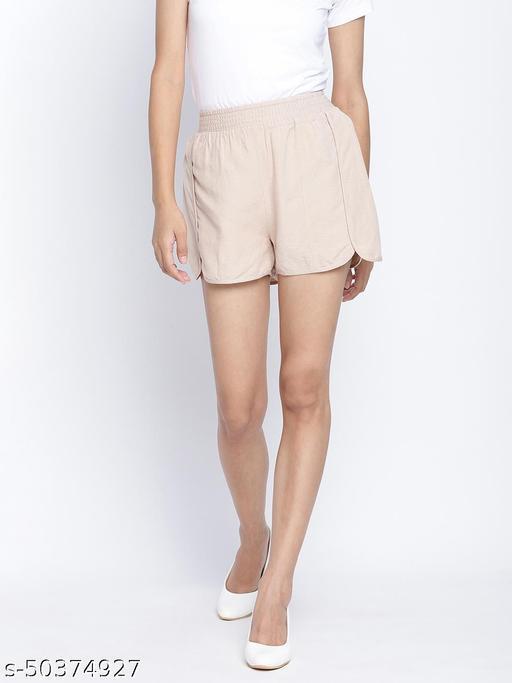 Gloden Blush classy women linen blend shorts