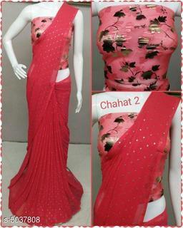 Attractive Printed Chiffon Saree