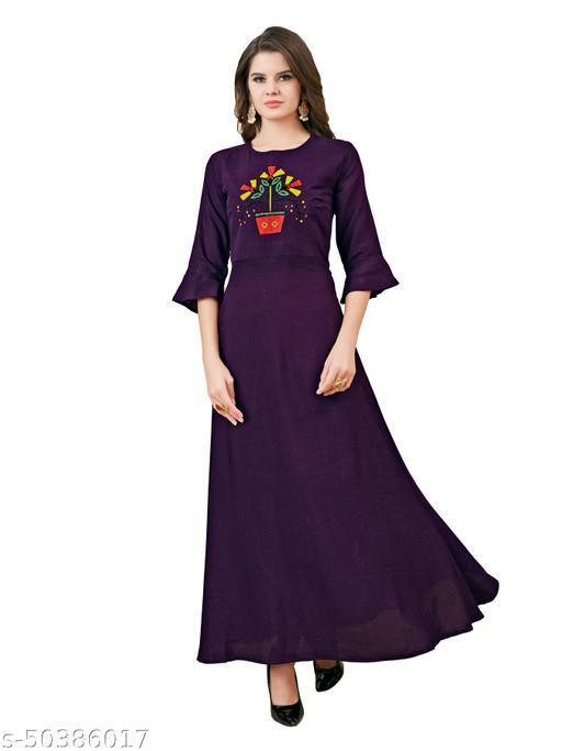 Rayon Anarkali Kurta For Women And Girls